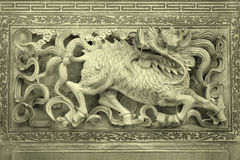 Stone carving background Stock Image