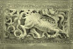 Stone carving background Stock Image