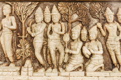 Stone carving of Buddha Royalty Free Stock Images