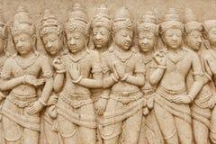 Stone carving of Buddha royalty free stock image