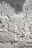 Stone carving of Buddha Stock Photo