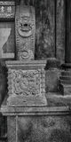 The stone carving of column base Royalty Free Stock Images