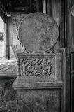 The stone carving of column base Stock Photography