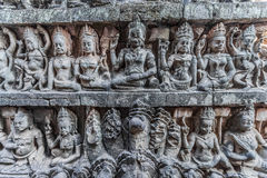 Stone carving detail angkor thom cambodia Royalty Free Stock Photo