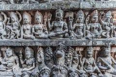 Stone carving detail angkor thom cambodia Royalty Free Stock Photo