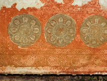 Stone Carving Detail Angkor Wat. Cambodia. Royalty Free Stock Photography