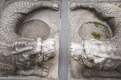 Stone carving, the dragon Royalty Free Stock Photography