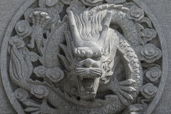 Stone carving dragon Royalty Free Stock Images