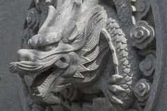 Stone carving dragon Stock Photography