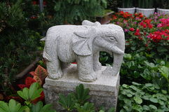 Stone carving of an elephant Royalty Free Stock Photography