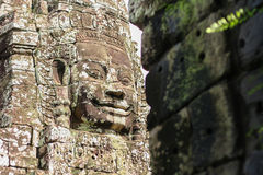 Stone carving face Stock Images