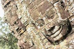 Stone carving face Royalty Free Stock Photos