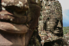 Stone carving face Royalty Free Stock Images