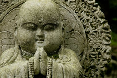 Stone carving fat buddha Stock Photography
