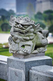 Stone carving lion in China Royalty Free Stock Photo