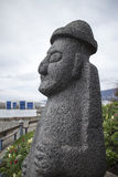 Stone carving in north vancouver seaside Stock Photo
