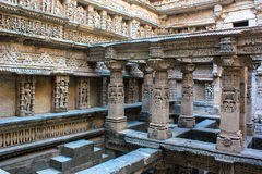 Stone carving at Patan step well. Royalty Free Stock Photography