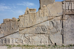 Stone carving in Persepolis Stock Photo