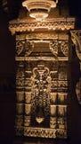 Stone carving on pillar at Adalaj step well Stock Image