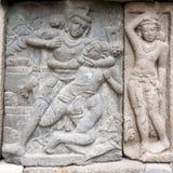 Stone carving of Prambanan Hindu temple, Yogyakarta,  Java Royalty Free Stock Photography
