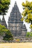 Stone carving of Prambanan Hindu temple, Yogyakarta,  Java Royalty Free Stock Photo
