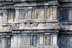 Stone carving of Prambanan Hindu temple, Yogyakarta,  Java Royalty Free Stock Images