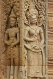 Stone carving at Prasat Sikhoraphun temple, Surin, Thailand Royalty Free Stock Photography