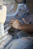 Stone carving in Rabat, Morocco Stock Photos