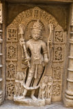 Stone carving at Rani ki Vav Stock Photography