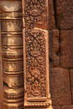 Stone carving on red sandstone doorways Stock Photography