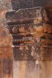 Stone carving on red sandstone doorways Royalty Free Stock Photo