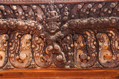 Stone carving on red sandstone doorways Royalty Free Stock Image