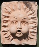 Stone Carving, Relief, Sculpture, Head royalty free stock photography