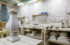 Stone carving room Royalty Free Stock Photo
