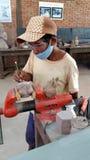 Stone carving, Siem Reap, Cambodia Royalty Free Stock Photos