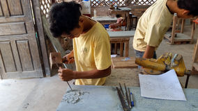 Stone carving, Siem Reap, Cambodia Stock Photography