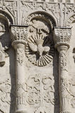 Stone carving. St Demetrius Cathedral (1193-1197) Stock Photo