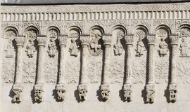 Stone carving. St Demetrius Cathedral (1193-1197) Royalty Free Stock Photos