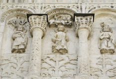 Stone carving. St Demetrius Cathedral (1193-1197) Stock Image
