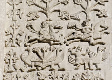 Stone carving. St Demetrius Cathedral (1193-1197) Royalty Free Stock Image