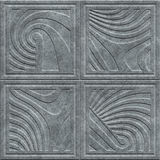 Stone carving texture with geometric pattern Royalty Free Stock Image