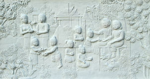 Stone carving of Traditional Thai culture Royalty Free Stock Photography