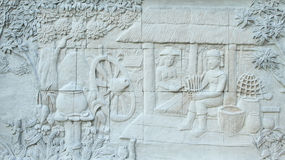 Stone carving of Traditional Thai culture Stock Photography
