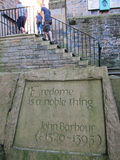 Stone carving under the stairs in edinburgh,scotland Royalty Free Stock Photography