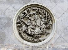 Stone carving on the wall Royalty Free Stock Photos