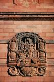 Stone carving on the wall of Albert Ludwig University of Freiburg, Germany stock photography