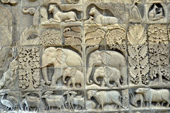 Stone carving on wall Stock Images