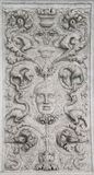 Stone carving on a wall in the palace of the Doges Stock Images
