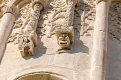 Stone carving on the walls of Saint Demetrius cathedral, Vladimi Royalty Free Stock Photo