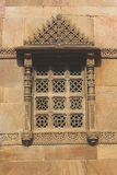 Stone carving window rani rupmati mosque. Stone carving window in rani rupmati mosque which is historic monument build in 1400 ad Royalty Free Stock Images